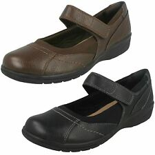 donna CLARKS CHEYN rete nero o marrone scuro in pelle scarpe casual