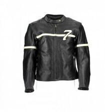 Giacca In Pelle Donna Frank Thomas Cafe' Race Nero Fant
