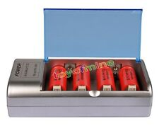 4x C size 1.2V 10000mAh Ni-MH batterie ricaricabili+C/D AA Size Univeral Charger