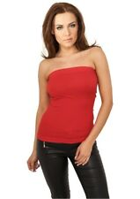 Urban Classics Ladies Strapless Top in rot von Größe XS-XL