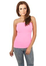 Urban Classics Ladies Neon Strapless Top in neonpink von Größe XS-XL