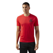 Reebok Mens Activchill Graphic T Shirt Tee Top Red Sports Gym Running Breathable