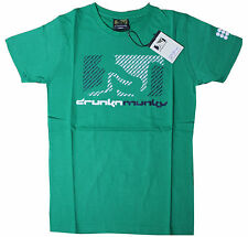 DRUNKNMUNKY T-Shirt Green tg. S-M-L-XL NUOVO conf. orig. D7408