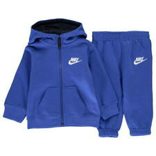 Nike Infant Full Zip Tracksuit Children Baby Hooded Jogging Suit - Royal Blue