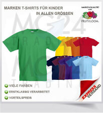 FRUIT OF THE LOOM enfants kids t-shirt à Manches Courtes Encolure ronde taille