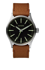 NIXON - Sentry Leather 38 - Brown/Black/Silver 1037
