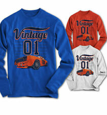 Manga Larga Hombres Camiseta General Lee MUSCLE CAR DUKE CHARGER NUEVO S s-3xl