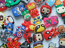 SHOE CHARMS (B5) - inspired by  - CUTE SUPER HERO (packs of 5 - 24)