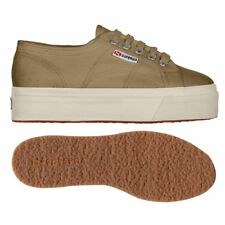 SUPERGA 2790 zeppa 4cm Scarpe DONNA acotw up and down BEIGE Prv/Est New WBTvlzwp