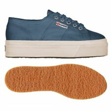 SUPERGA 2790 zeppa 4cm Scarpe DONNA 2790ACOTW LINEA UP AND DOWN Acotw blu E34zar