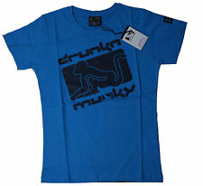 DRUNKNMUNKY T-shirt Blue tg. S-M-L-XL NUOVO conf. orig. d7405-1
