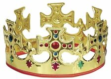 Novelty Majestic King Queen Gold Crown Hat Kid Children Dressing Up Birthday Toy