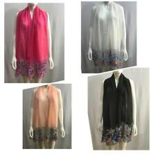 Women New Pearl Lace Flower Cotton Shawl Scarf Hijab Sarong Wrap Large Scarves