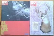 Individual Royal Shakespeare Company RSC Theatre programmes 2000s Stratford-u-A