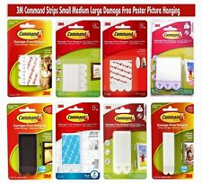 3M Command Strips Small Medium Large Damage Free Poster Picture Hanging