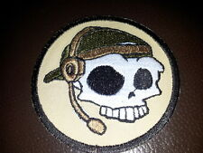 """ONE AIRSOFT MILITARY EMBROIDERED PATCH """"OPERATOR SKULL"""""""