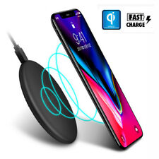 Qi Wireless Fast Charger Charging Pad Mat for Samsung Galaxy iPhone X 8/8 Plus
