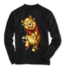 maniche lunghe Uomo Teddy The Killer POOH COMIC orrore NUOVO S S-3XL pk23916ls