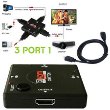 Hdmi 3 Port Switch AUTO Switcher Splitter Selector HUB Box Cable HDTV 1080P V1.4