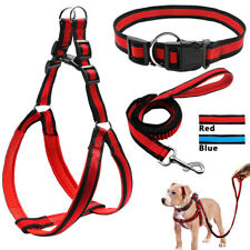 GN- 3X ADJUSTABLE PET PUPPY HARNESS COLLAR LEASH SET FOR SMALL MEDIUM LARGE DOG