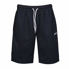 MENS BLACK LEE COOPER GYM TRAINING KNEE LENGTH LONG JERSEY SHORTS