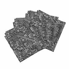 Robot Nerd Geek Binary Digital Number Cotton Dinner Napkins by Roostery Set of 4