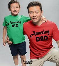 American Dad Amazing Kid Fathers Son Daddy Daughter Family Matching T shirts