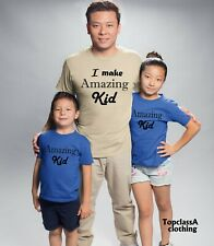 I am Amazing Kid Fathers Dad Son Daddy Daughter Family Matching T shirts