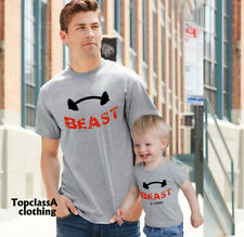 Beast Beast In Training Fathers Dad Son Daddy Daughter Family Matching T shirts