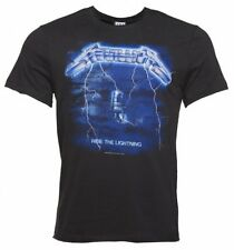 Official Men's Charcoal Metallica Ride The Lightning T-Shirt from Amplified