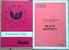 Selection of individual Phoenix Theatre programmes 1960s, West End programme