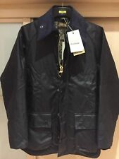 Barbour Mens Bedale navy Wax Jacket,in sizes 44/46 or 48,reduced from £229