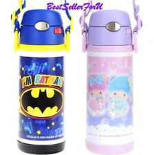 DC Comics/Sanrio Stainless Steel Vacuum Insulated Pop-up Straw Water Bottle Kids