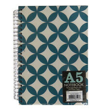 A5 Spiral Hardback Notebook - 2 Designs, Geometric and Lists & Jobs - 150 Pages