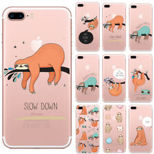 Cartoon Sloth Pattern Clear Soft Phone Case For iPhone 6 6s 7 8 Plus X Xr Xs Max