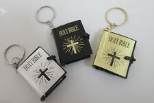 1 x Mini Holy Bible The Old Testament Book Key Chain *UK SELLER* Ring Case Gift