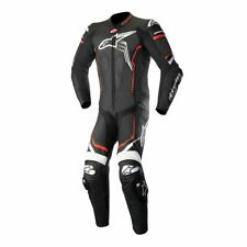 Alpinestars Leather GP Plus V2 Motorcycle 1 Piece Suit Black/White/Flo Red