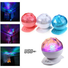 Romantic Relaxing Lamp LED Aurora Projector Ocean Wave Night Light Music Speaker