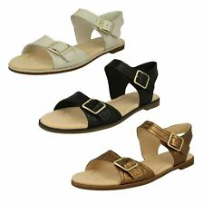 6da6334a75087e LADIES CLARKS LEATHER FLAT BUCKLE CASUAL COMFY SANDALS SHOES SIZE BAY  PRIMROSE