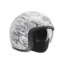 CASCO HELMET HJC FG-70s MACHU CUSTOM CAFE RACE SCRAMBLER MOTO BIANCO MC10SF