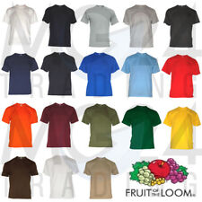 10 SET T-SHIRT UOMO FRUIT OF THE LOOM Unisex S M L XL XXL 3XL 18 colori NUOVO
