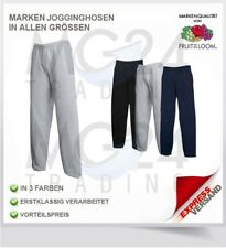 FRUIT OF THE LOOM PANTALONI TUTA GR S M L XL XXL IN NERO BLU E GRIGIO APERTO