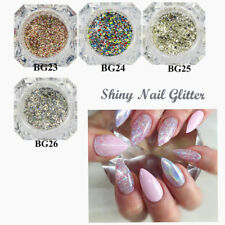 Platinum Shiny Nail Glitter Powder Sparkly Diamond Manicure Nail Art Decoration