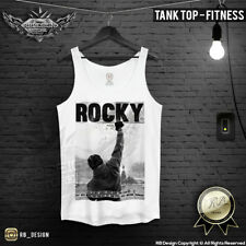 Mens Training Tank Top Cool Rocky Balboa Mens Workout Tank Tops Gym Vest MD276