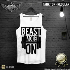 Mens Training Tank Top Beast Mode On Workout Shirt Mens Gym Clothing MD642