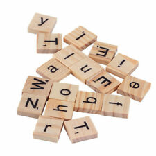A-Z Wooden Scrabble Tiles Black Letters Tiles For Crafts Wood Alphabets Toy UK