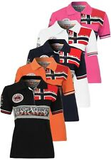 Geographical Norway Polo Donna Kimika da maglia a manica corta bestrickt Casual