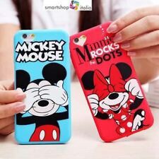 "COVER Custodia silicone Sottile Slim MORBIDA ""minnie-topolino"" Per iPHONE disney"