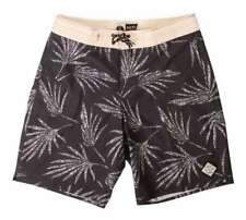 Salty Crew Palm Deck Shorts / Boardshorts - Grey/Tan/Palm - Sizes 30, 32, 34