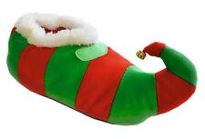 Adults / Unisex / Mens / Ladies Novelty Christmas Elf Slippers with Bell